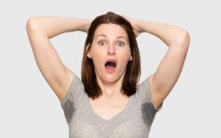 Как вылечить излишнее потоотделение подмышек