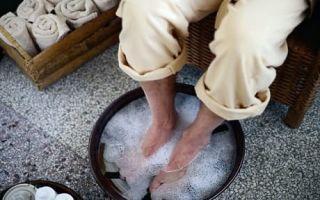 Применение лечебных ванночек от пота и запаха ног
