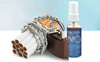 Состав и действие спрея nicoin