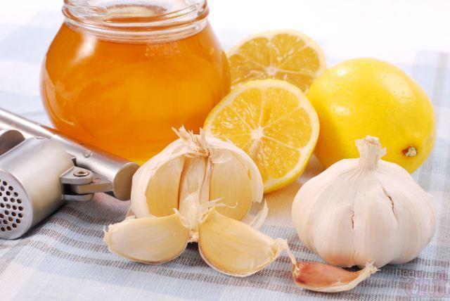 чеснок, лук, мед