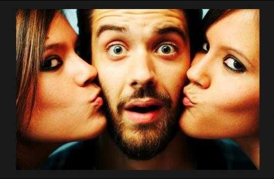 2 девушки и 1 парень
