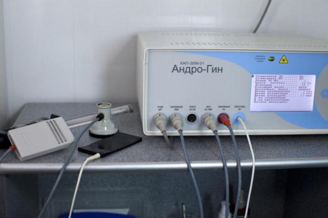 Массаж простаты на аппарате андрогин